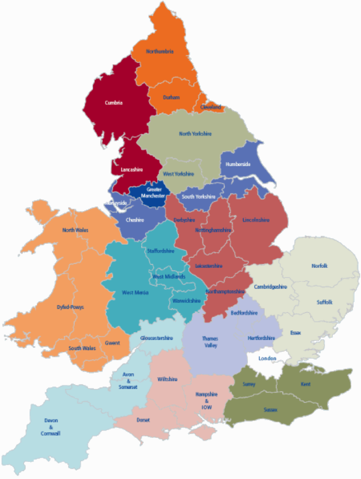 Local Support ASB Help Map Uk South
